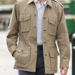 🔶TravelSmith Safari Jacket Sz Large